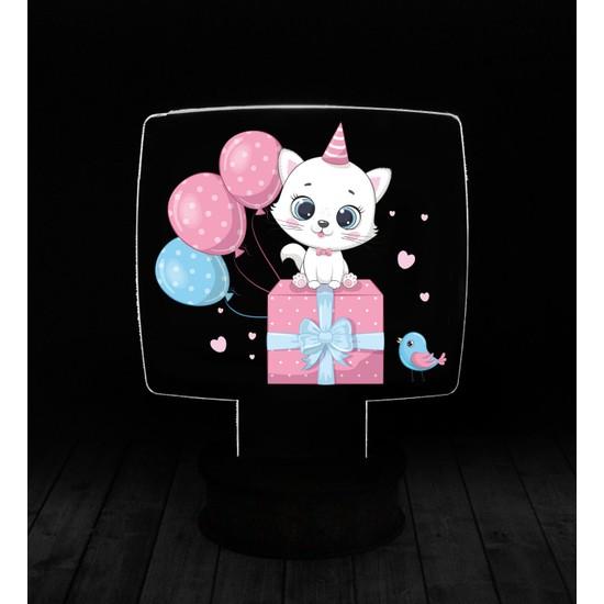 eJOYA Modern Desenli 3 Boyutlu 3D Led Gece Lambası 90229