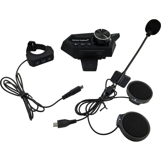 Auvc Kablosuz Bluetooth Motosiklet Kask Kulaklığı (Yurt Dışından)