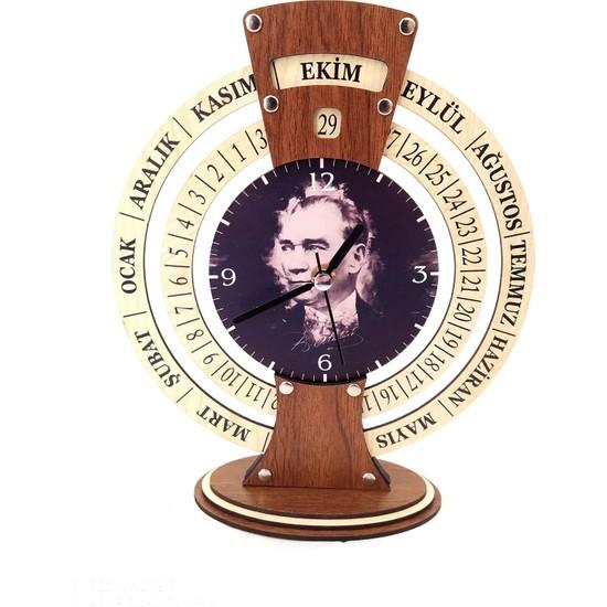 Özarslan Dizayn Atatürk Sonsuz Takvimli Saat (Maya Takvimi) Model1