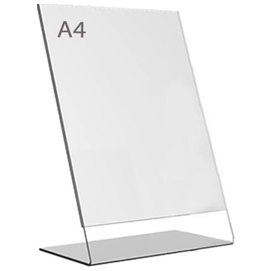 Display Malzeme Dm A4 L Tipi Dikey Masa Üstü Şefaf Pleksi Föylük
