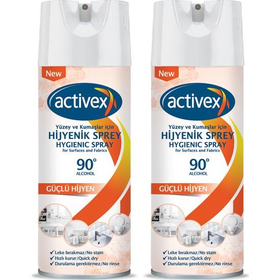Activex Hijyenik Kumaş ve Yüzey Spreyi 400ML x 2 Adet