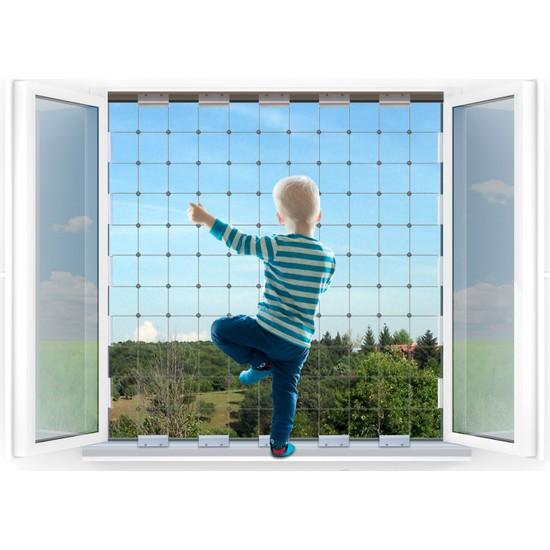 Winblock Çocuklar Için Pencere Güvenlik Sistemi Çift Kanatlı Pencereler Için