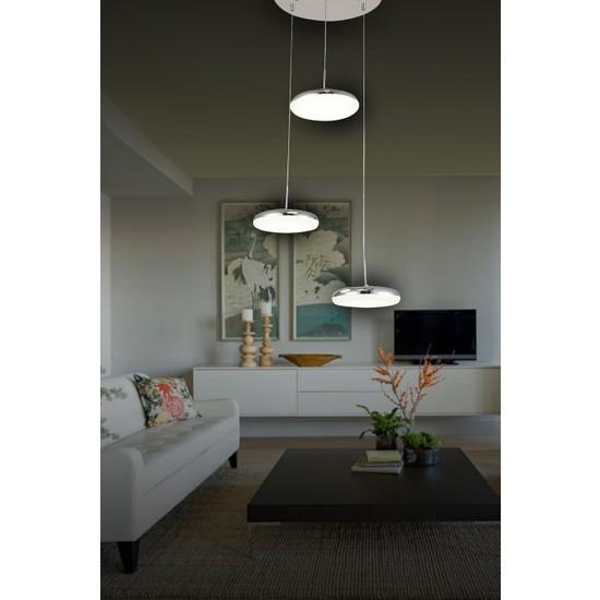 Luna Lighting Modern Luxury Sarkıt 3'lü Krom LED Avize