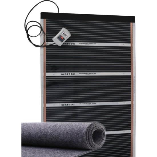 Ufuk Dağıtım 130X350 Keçeli Tasarruf Cihazlı Dijital Termostatlı Halı Altı Karbon Isıtıcı