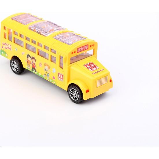 Onyıl Oyuncak Sesli Işıklı Dans Eden 20 cm Okul Otobüsü