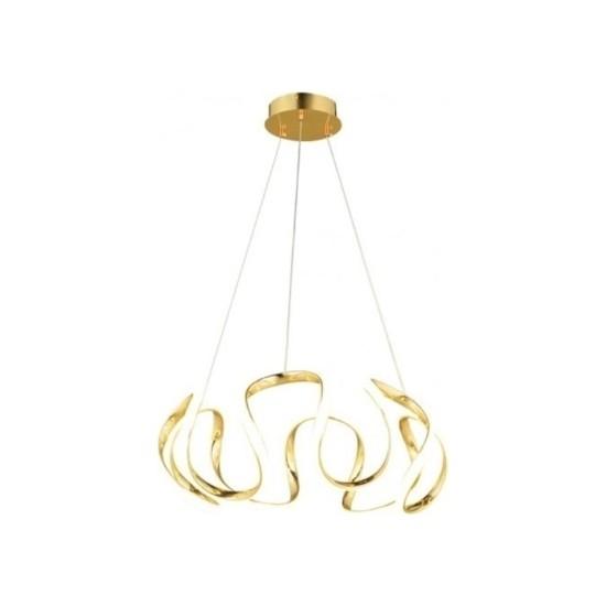 Burenze Luxury Modern Sarkıt LED Avize Gold Sarı BURENZE636