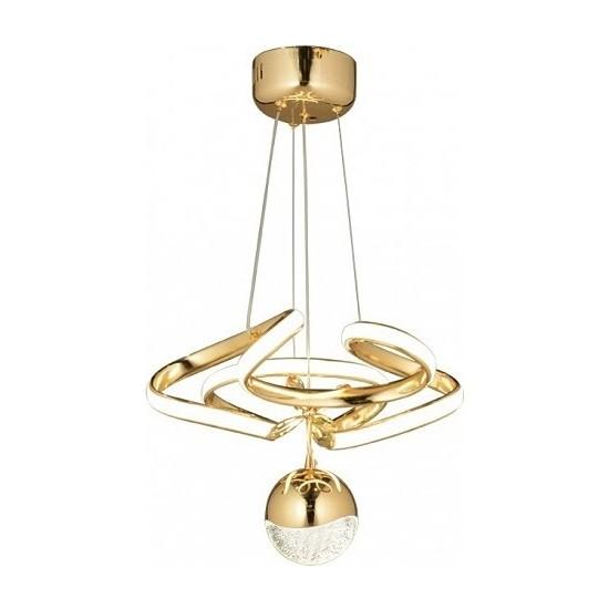 Burenze Luxury Modern Sarkıt LED Avize Gold Sarı BURENZE649