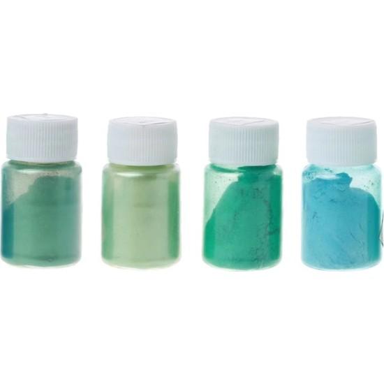 Brtr4 Renk Yeşil Sedefli Epoksi Metalik Toz Pigment Seti