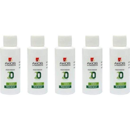 Akos Peroksit / Oksidan 60 ml % 6 20 Wolüm 5 Adet