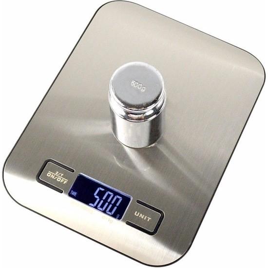 Tme 5 kg Paslanmaz Çelik Mutfak Terazisi Tartısı 1 gr Hassasiyet
