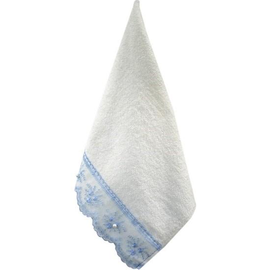 BeysEV Beyse Tekstil 30X50 Güpürlü Incili El ve Yüz Havlusu 2'li