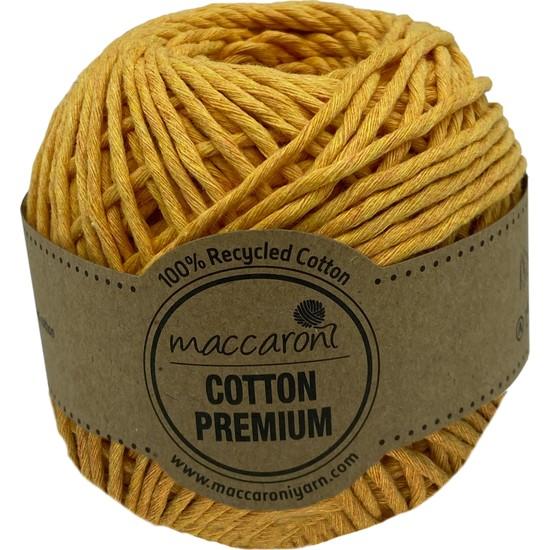 Maccaroni Cotton Tek Büküm Tarama Makrome Hobi İpi Hardal