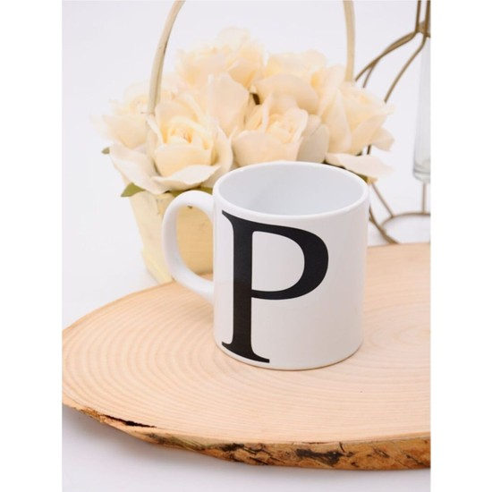 Güral Porselen P Harfli Kupa