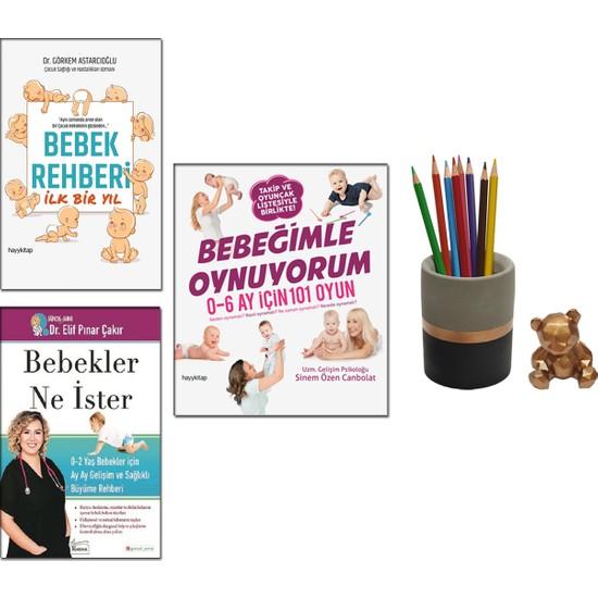 Bebekler Ne Ister : 0-2 Yaş Bebekler Için - Elif Pınar Çakır + Bebek Rehberi Ilk Bir Yıl - Görkem Astarcıoğlu + Bebeğimle Oynuyorum - Sinem Özen Canpolat + Betonsu Tasarım Kalemlik Seti