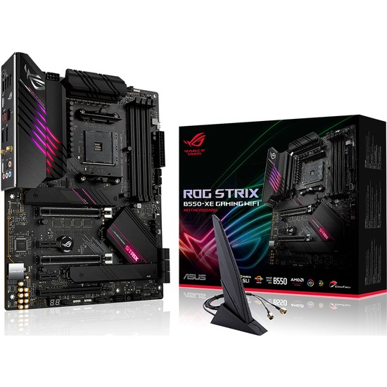 Asus ROG Strix B550-XE Gaming Wifi Amd B550 DDR4 5100 MHz (OC) Am4 AX Wifi + Bt Atx Anakart