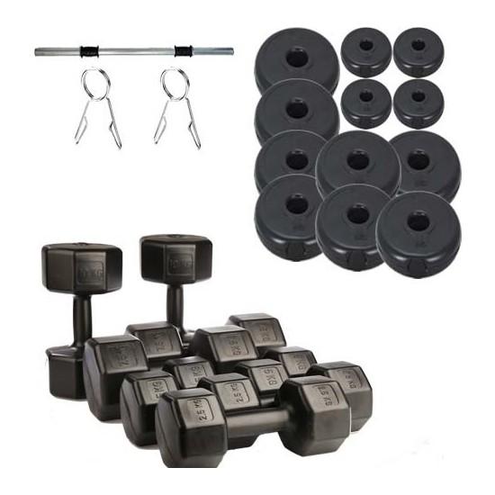 50 kg Dambıl+50 kg Halter Seti