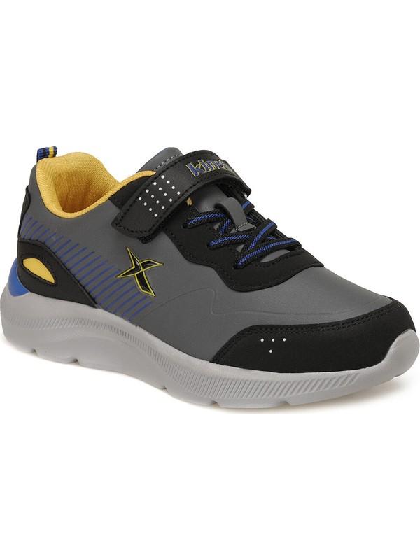 Kinetix Roars Erkek Çocuk Spor Ayakkabısı-Koyu Gri Siyah