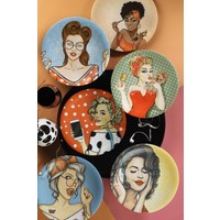 Kütahya Porselen Pop-Art 6'lı Servis Tabağı 25 cm