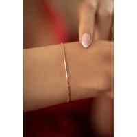 Ninova Silver Tilki Kuyruğu Model Rose Kaplama Gümüş İtalyan Bileklik