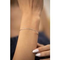 Ninova Silver Yılan Derisi Model Gümüş İtalyan Bilezik