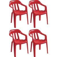 Romanoset Plastik Romanoset Derya Kollu Plastik Sandalye 4 Lü Set