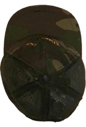 Donatım Ticaret Kartal ve Türk Bayraklı Komando Yazılı Kamuflaj Şapka
