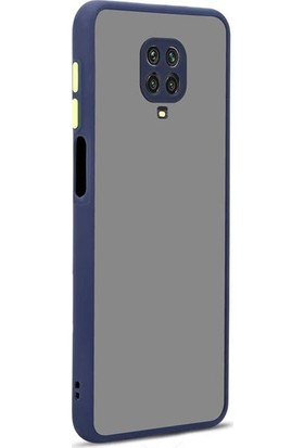 zengin çarşım Xiaomi Redmi Note 9s - Note 9 Pro Silikon Kenarlı 3D Kamera Lens Korumalı Hux Kılıf Lacivert