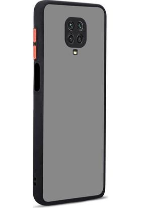 zengin çarşım Xiaomi Redmi Note 9s - Note 9 Pro Silikon Kenarlı 3D Kamera Lens Korumalı Hux Kılıf Siyah