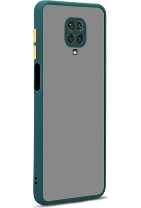 zengin çarşım Xiaomi Redmi Note 9s - Note 9 Pro Silikon Kenarlı 3D Kamera Lens Korumalı Hux Kılıf Yeşil