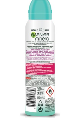 Garnier Mineral Termal Koruma Sprey Deodorant