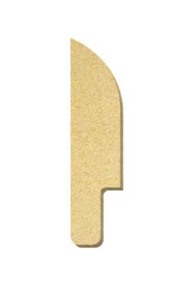TYMCNC Ahşap BY0601 Boyanabilir Hobi Bıçak Figürü 5 x 20 x 1.8 cm