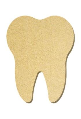 TYMCNC Ahşap BY0652 Boyanabilir Hobi Diş Figürü 15 x 20 x 1.8 cm