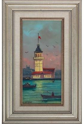 Panoramik Istanbul Temalı 34.5 x 22.5 cm Yağlı Boya Tablo