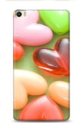 Onadair Huawei P8 Max 3 Boyut Kalp Desenli Kılıf