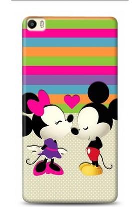 Onadair Huawei P8 Max Mickey Ve Minnie Aski Desenli Kılıf