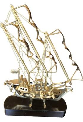 Reina Pirinç Yelkenli Gemi Dekorasyon