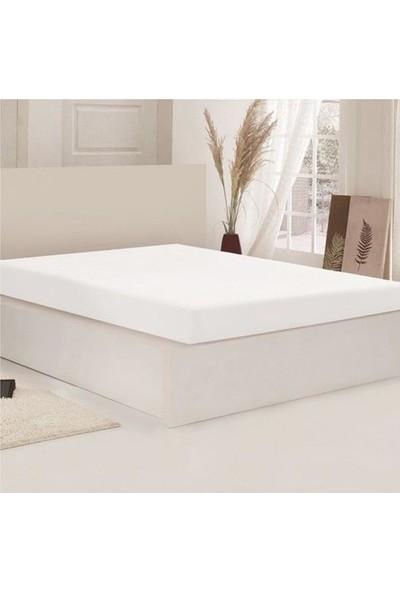 Açelya Çarşaf Battal 200X200 cm Yastık Kılıflı Beyaz