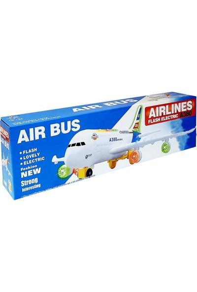 Air Bus A380 Işıklı Sesli Hareketli 43 cm Büyük Uçak
