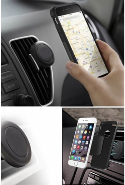 Herşeyden Herşey Araç Içi Izgaralık Mıknatıslı Telefon Tutucu