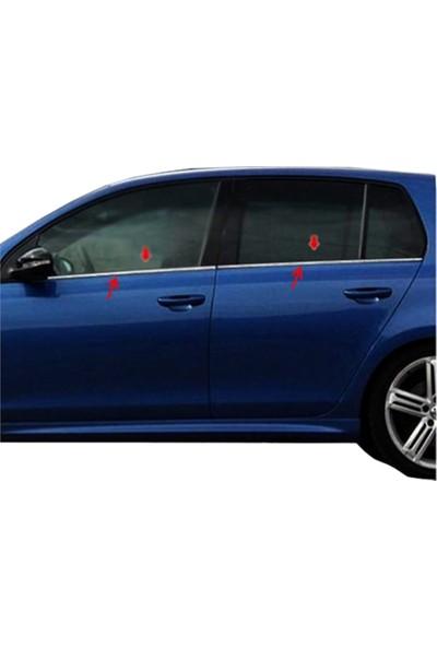 Blue Volkswagen Golf 6 (2009-2012 ) Paslanmaz Krom Cam Çıtası 4 Parça Blueoto