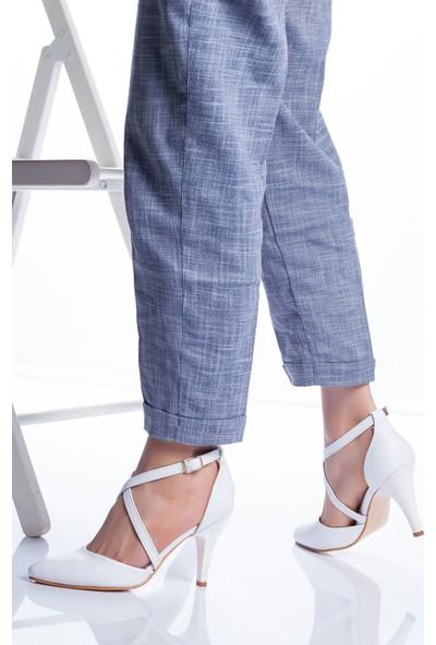 Ayakkabı Frekansı Gabel Topuklu Ayakkabı Beyaz Cilt