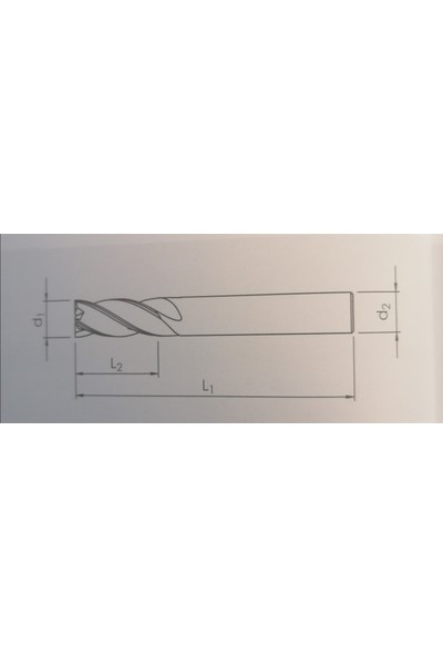 BiMetal 8 Unicut 10X60 R4 Z2 Standar Küre Karbür Parmak Freze