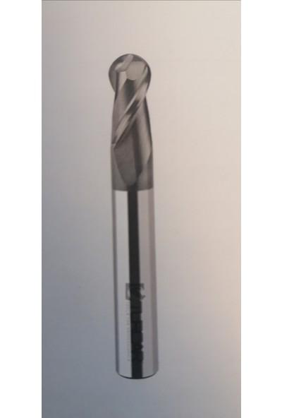 BiMetal 5 Unicut 7X50 R2,5 Z2 Standart Küre Karbür Parmak Freze