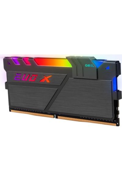 Geıl Evo x Iı RGB-Amd Ryzen 16GB 2X8GB 3200MHz 1.35V CL16 Gamıng Pc Ram Black GAEXSY416GB3200C16ADC