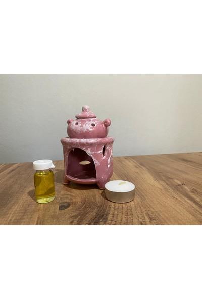 M&B Çaydanlık Buhurdanlık Pembe Buhurdan Set