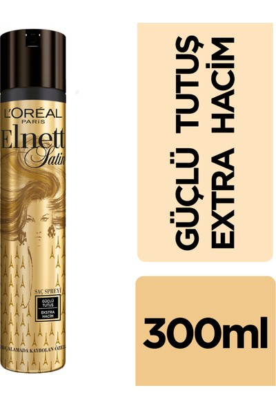 L'Oréal Paris Elnett Güçlü Tutuş ve Ekstra Hacim Saç Spreyi