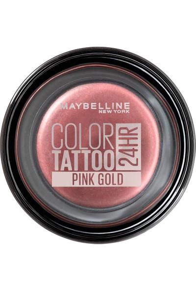 Maybelline New York Color Tattoo 24H Göz Farı - 65 Pink Gold - Metalik Pembe