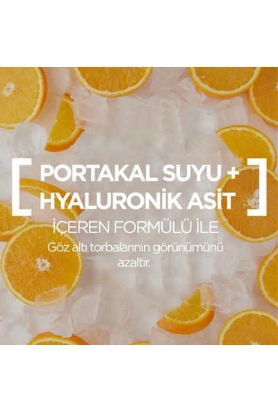 Garnier Nem Bombası Kağıt Göz Maskesi Portakal Suyu & Hyaluronik Asit 6 G +Hediye 50'li Makyaj Pamuğu