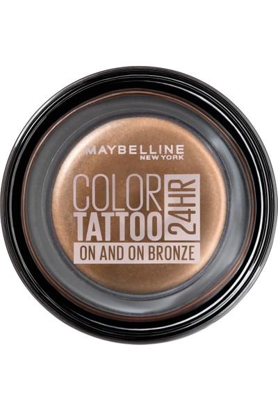 Maybelline New York Color Tattoo 24HR Krem Göz Farı - 35 On And On Bronze - Bronz