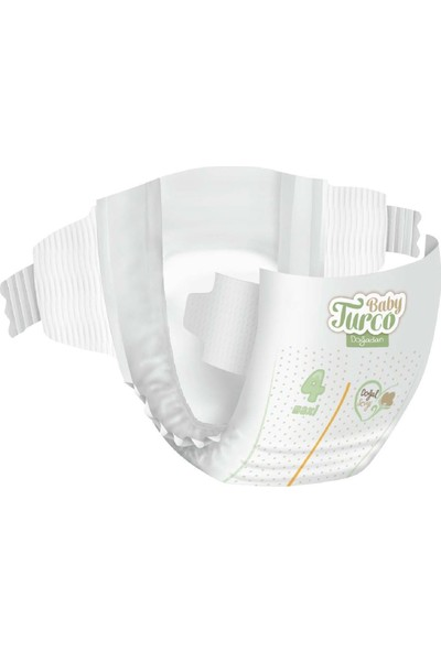 Baby Turco Doğadan 4 Numara Maxi 30 Adet + 3x7 Lady Turco Hijyenik Ped Hediyeli